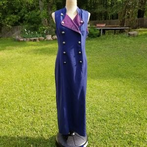 Vintage Misty Lane double breasted button up dress